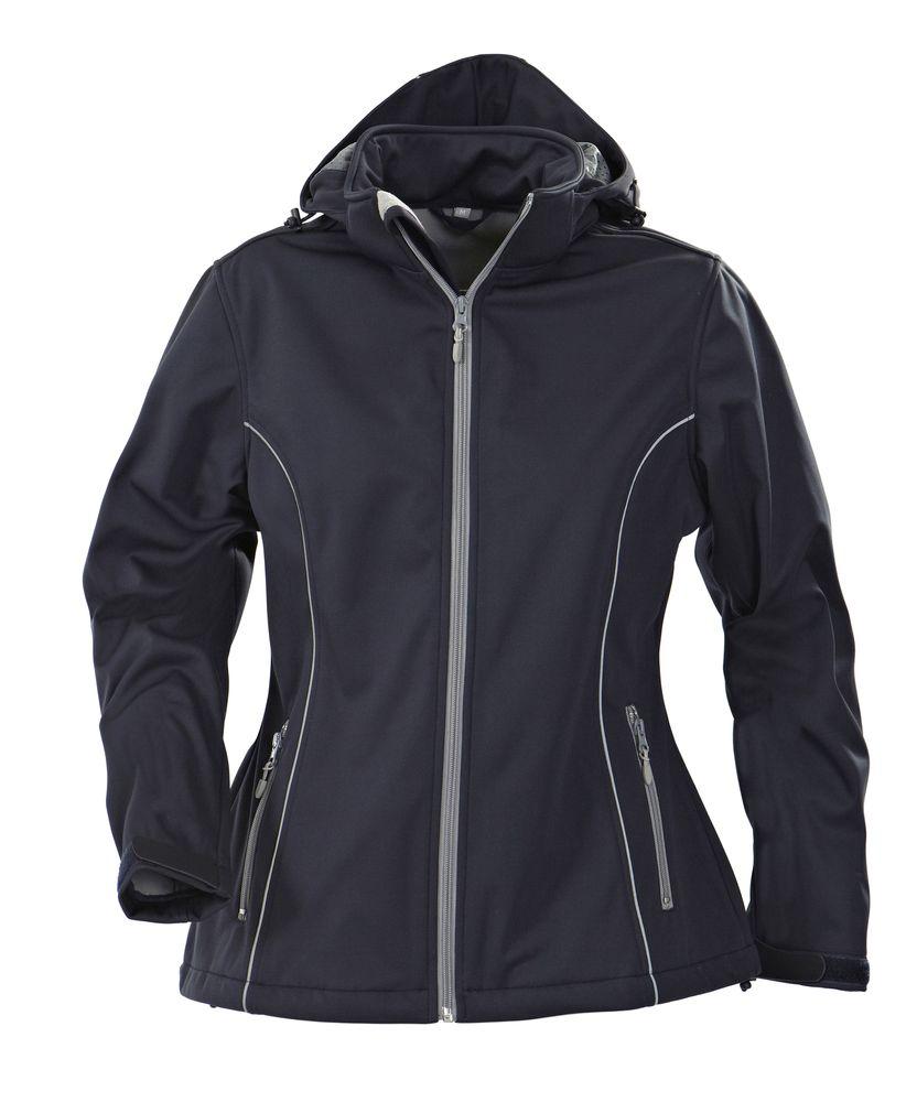Куртка софтшелл женская HANG GLIDING, темно-синяя, размер XL
