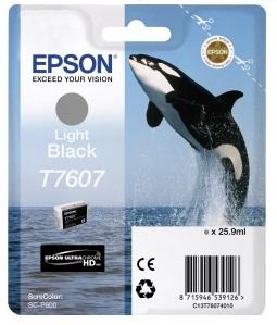 Фото - Контейнер с серыми чернилами Epson T7607 для SC-P600 (C13T76074010) штора для ванной wasserkraft sc 10101 180x200