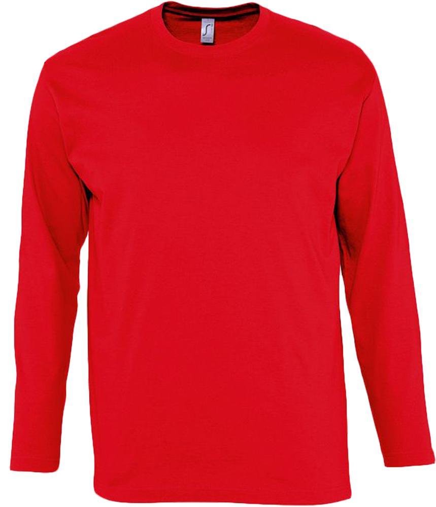 Футболка мужская с длинным рукавом MONARCH 150 красная, размер S недорого