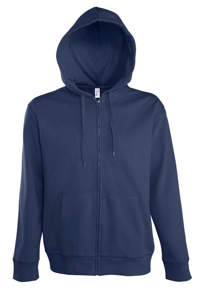 Толстовка мужская на молнии с капюшоном Seven Men 290, темно-синяя, размер 3XL