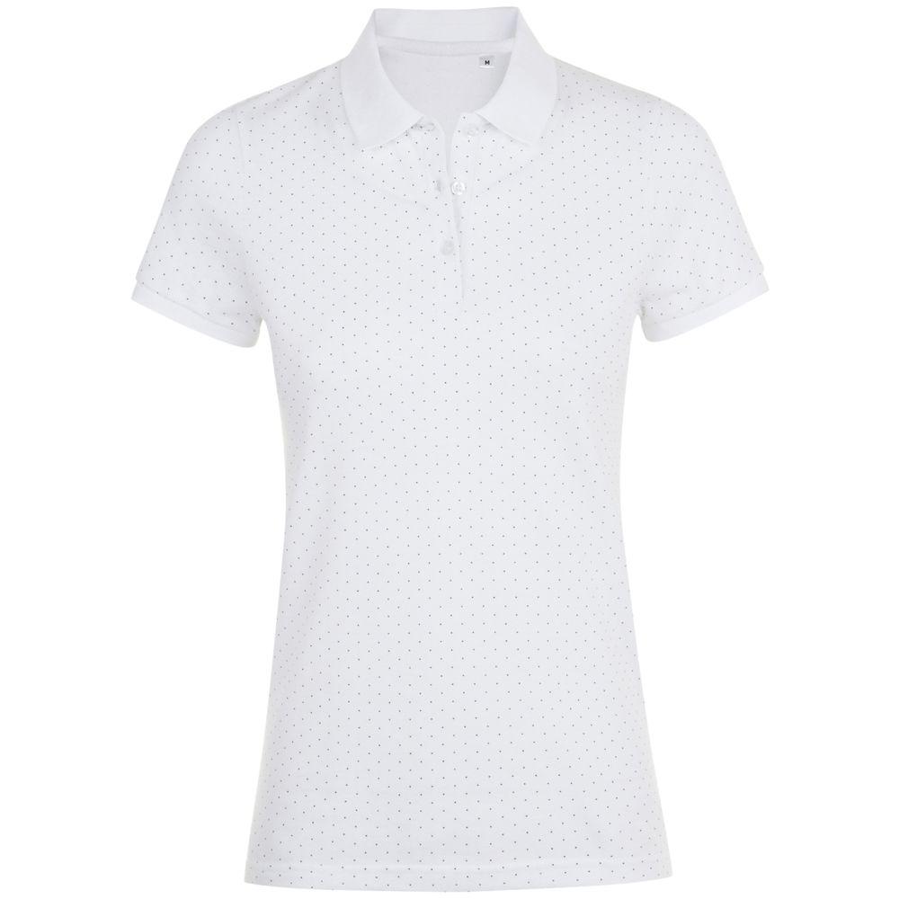 Рубашка поло женская BRANDY WOMEN белый/темно-синий, размер XS фото