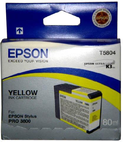 Epson T5804 Yellow 80 мл (C13T580400) epson t5804 yellow 80 мл c13t580400