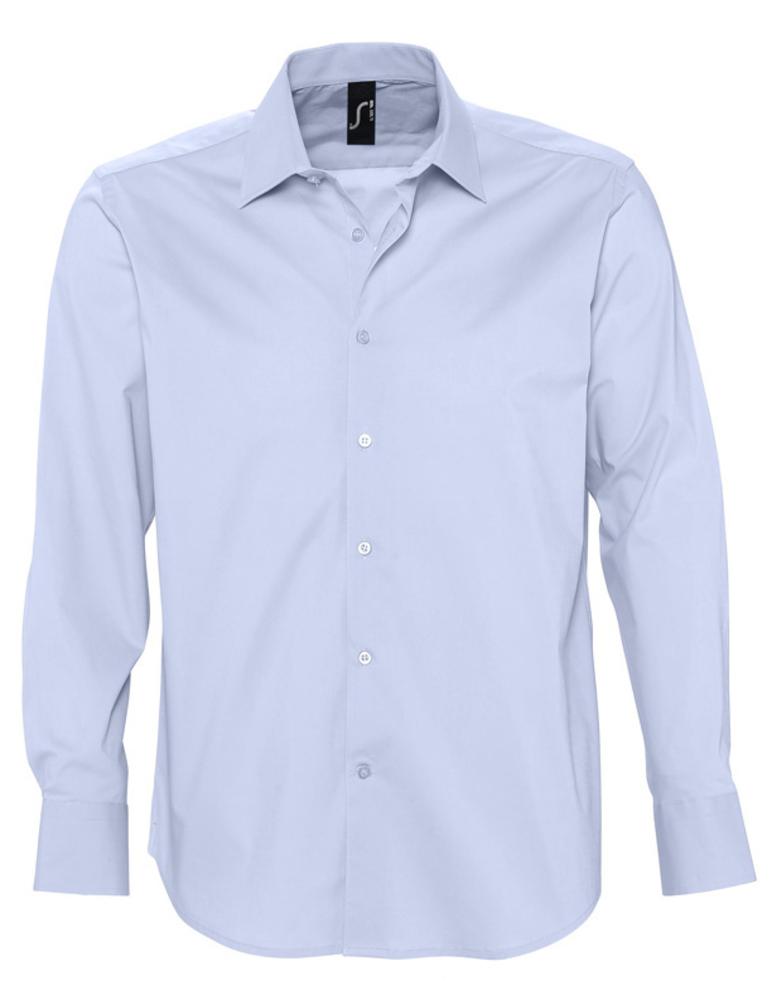 Рубашка мужская с длинным рукавом BRIGHTON голубая, размер M