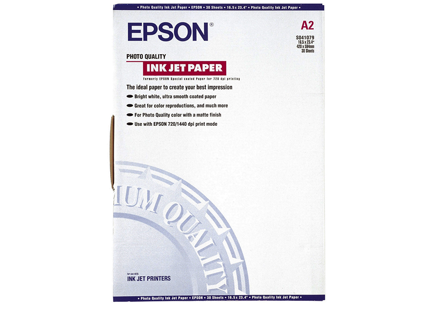 Epson Photo Quality Ink Jet Paper A2, 102 г/м2, 30 листов (C13S041079)