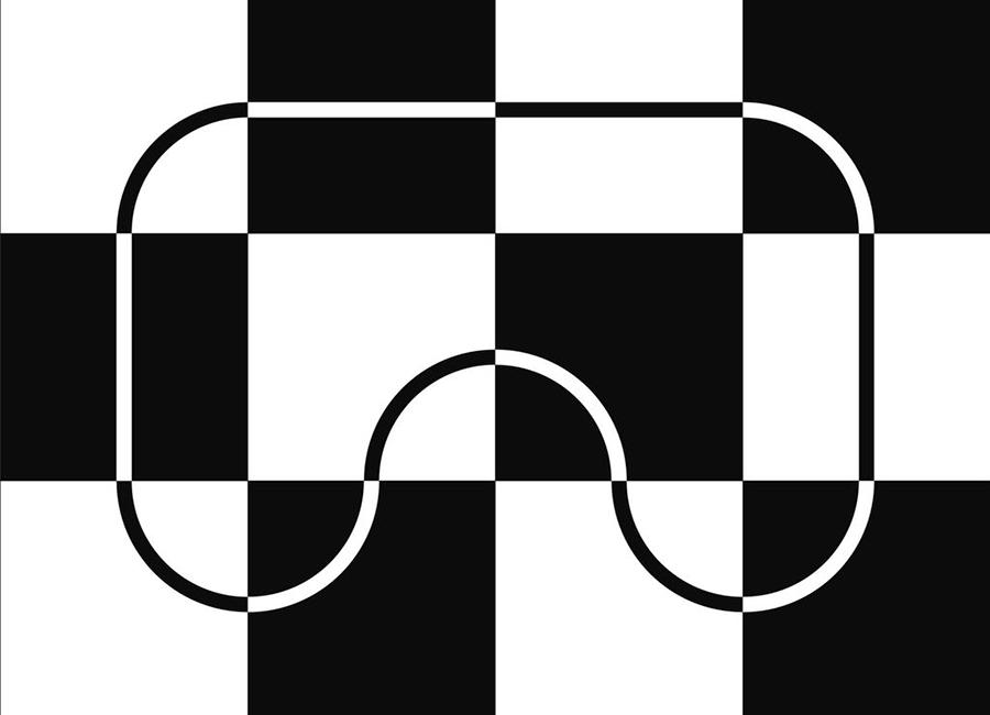 Поле для соревнования роботов шахматное с инверсной линией 2430х3240 (мм)