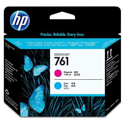 Печатающая головка HP №761 Designjet Magenta & Cyan (CH646A) печатающая головка colorwave300 magenta 5835b003
