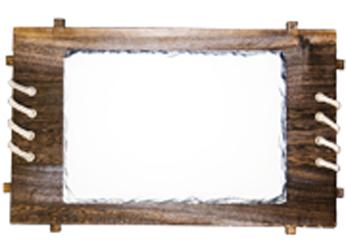 Фото - Фотокамень с деревянной рамкой зонт трость с деревянной ручкой printio васильки