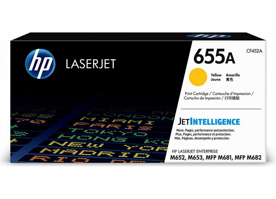 Тонер-картридж HP LaserJet 655A желтый (CF452A)