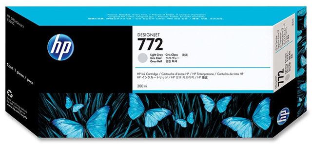 HP DesignJet 772 Light Gray 300 мл (CN634A) картридж hp cn636a 772 cyan для designjet z5200 300ml