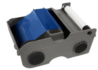 Фото - Картридж с лентой и чистящим валиком синяя лента Fargo 45103 картридж с лентой и чистящим валиком полноцветная лента ymcko 45100