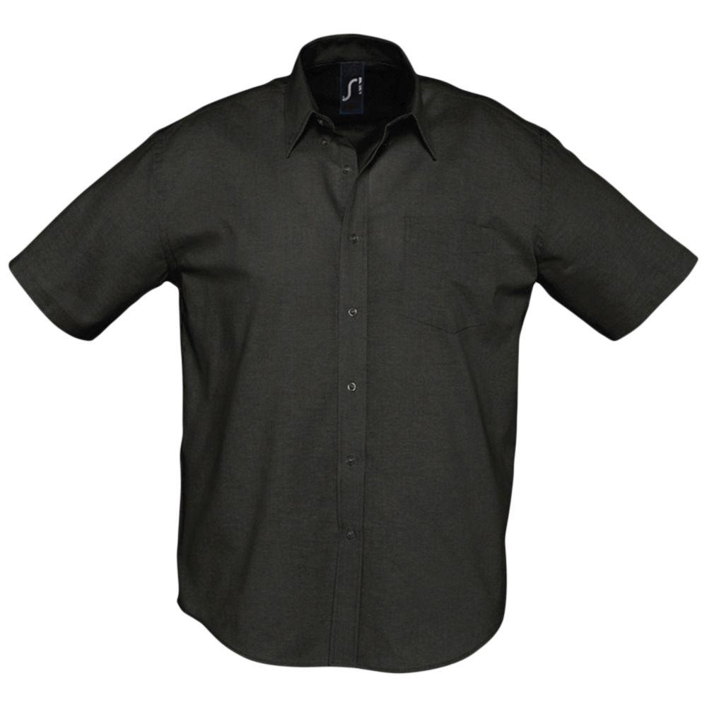 Фото - Рубашка мужская с коротким рукавом BRISBANE черная, размер XXL рубашка мужская с коротким рукавом brisbane голубая размер l