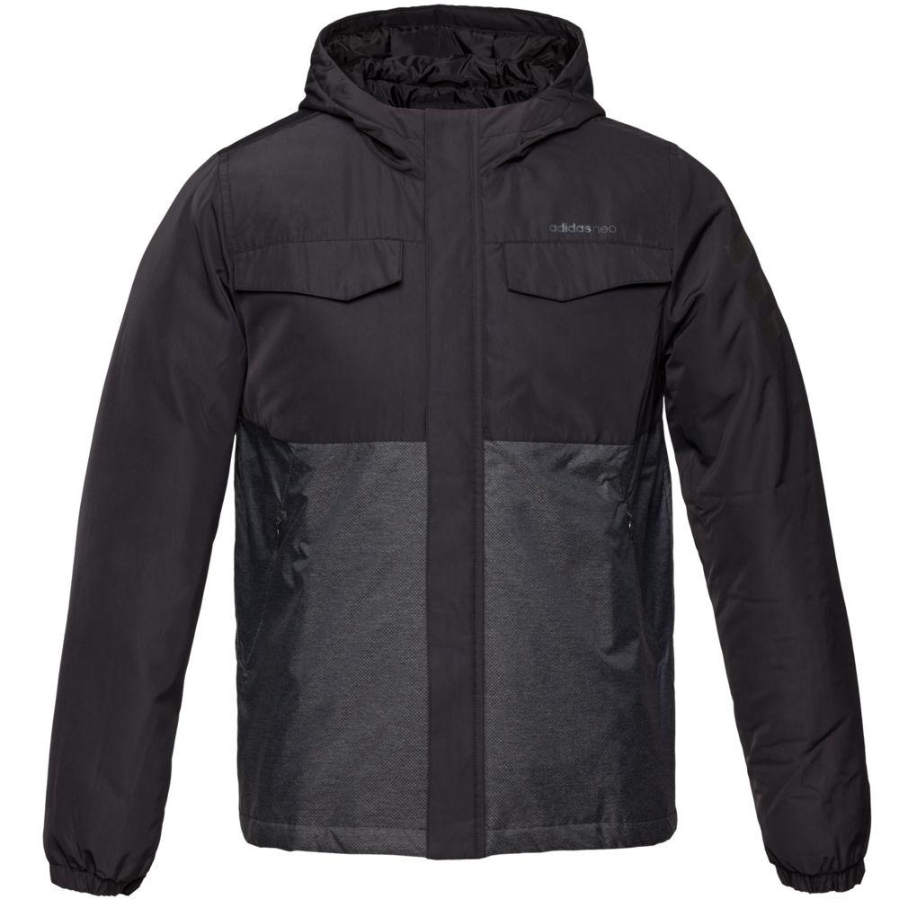 Куртка мужская Padded, черная, размер 2XL