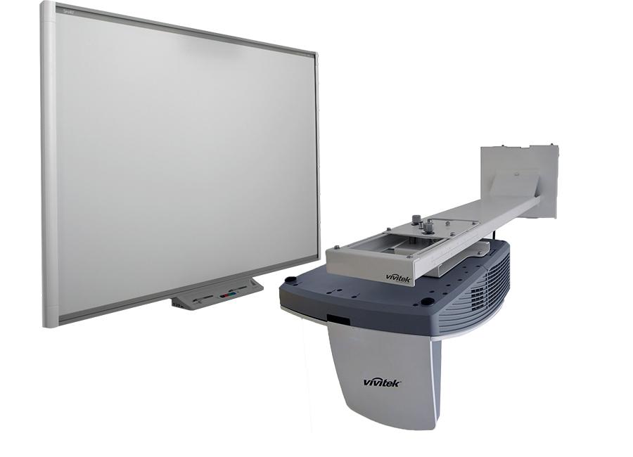 Картинка для Интерактивный комплект SBM680iv6: интерактивная доска   Board SBM680 с пассивным лотком, проектором Vivitek DH758UST и оригинальным настенным креплением Vivit