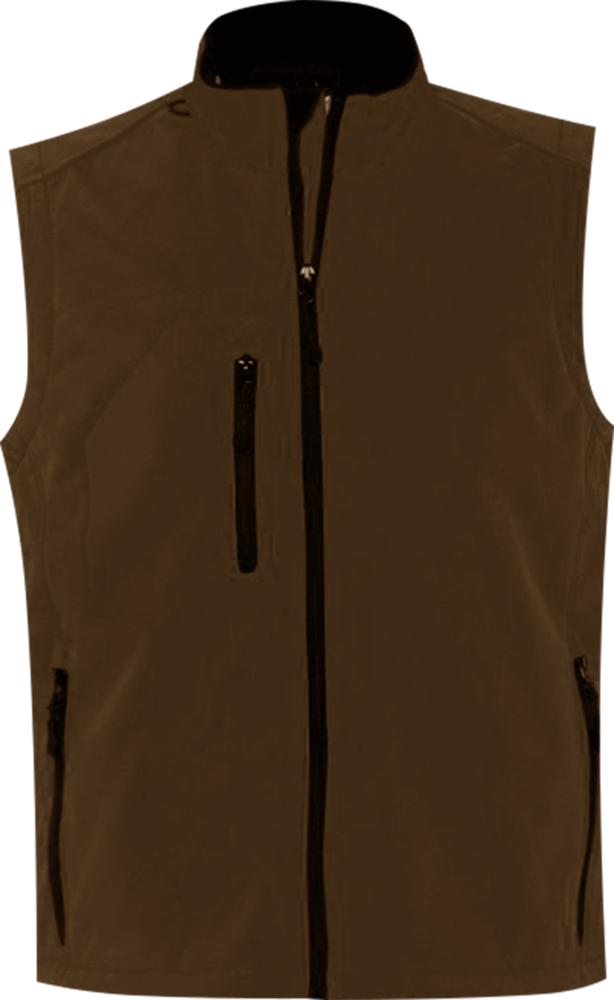 Жилет мужской софтшелл RALLYE MEN шоколадно-коричневый, размер S