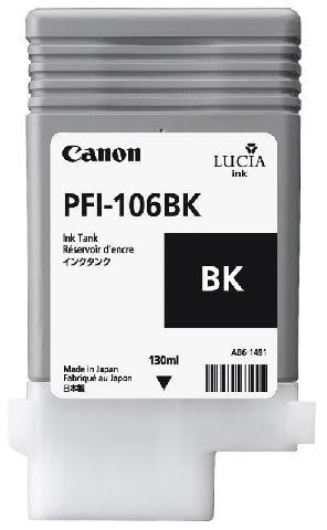 Фото - Canon PFI-106BK Black 130 мл (6621B001) блокнот moleskine молескин classic soft large 130 210мм 192стр линейка мягкая обложка фиксирующая резинка гол