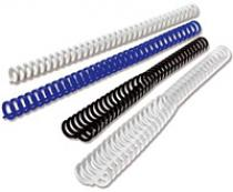 Пластиковые пружины Clicks (ex. Ibiclick) диаметр 8 мм черные A4 (297 мм) 50 шт.