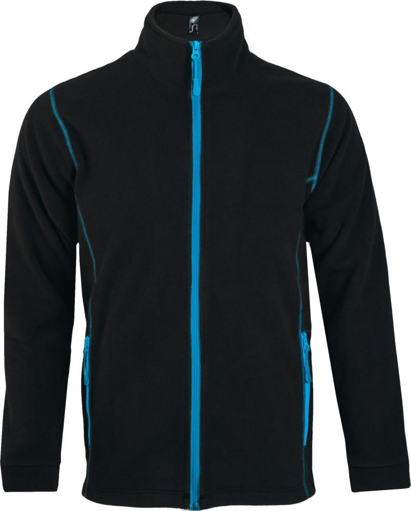Куртка мужская NOVA MEN 200, черная с ярко-голубым, размер S