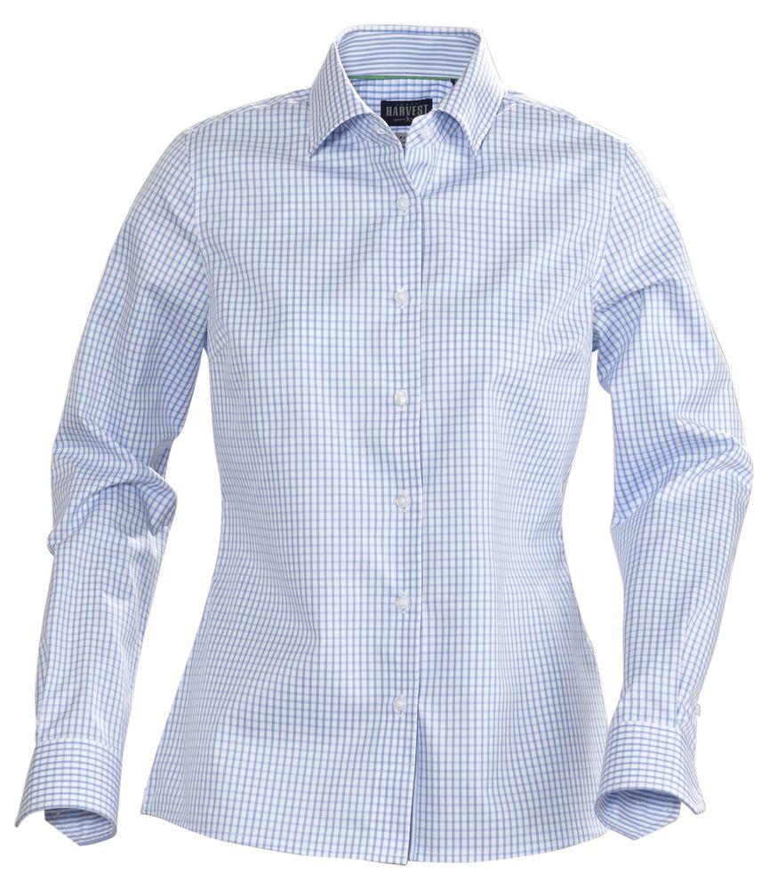 Рубашка женская в клетку TRIBECA LADIES, голубая, размер XL