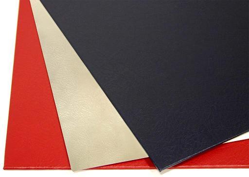Твердые обложки O.HARD COVER Mundial 304x212 мм с покрытием «кожа» без окна, черные