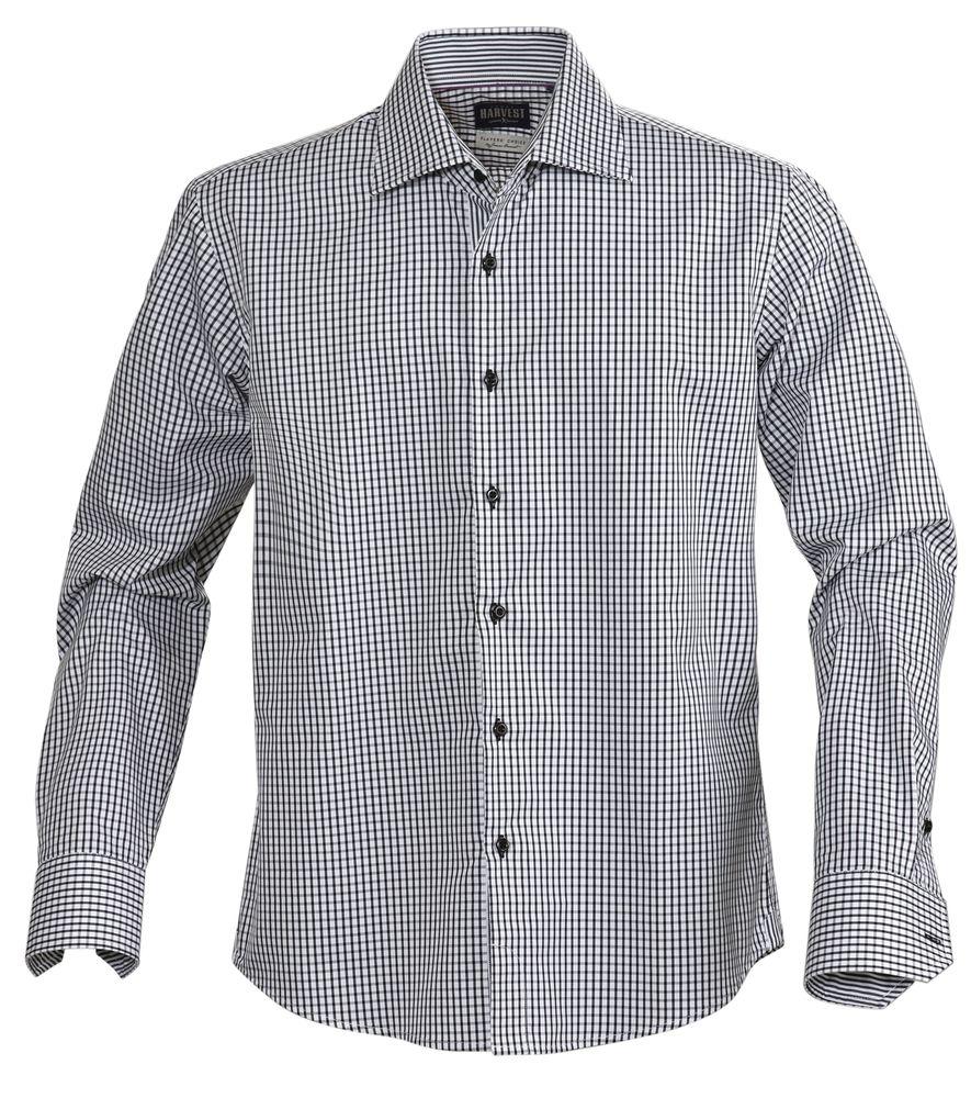 Рубашка мужская в клетку TRIBECA, черная, размер M