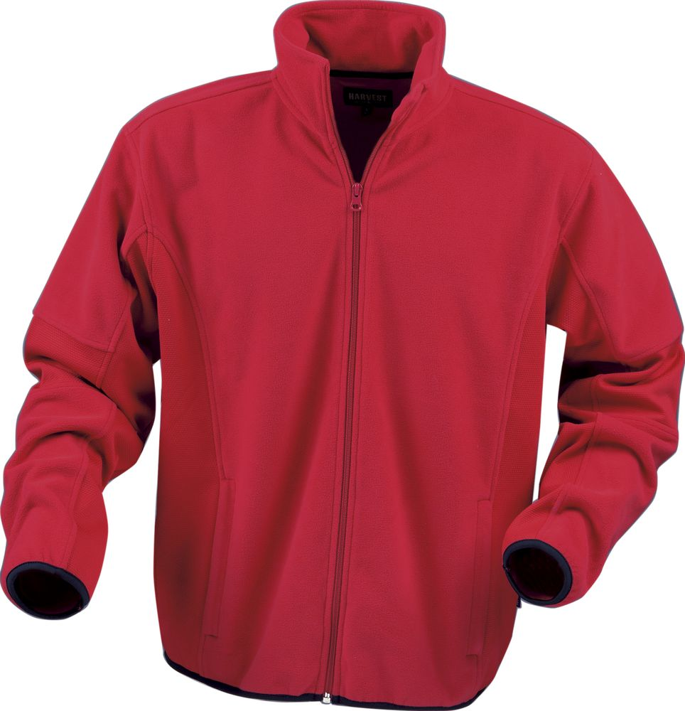Куртка флисовая мужская LANCASTER, красная, размер S