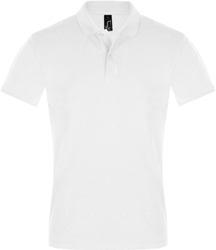 Рубашка поло мужская PERFECT MEN 180 белая, размер XL