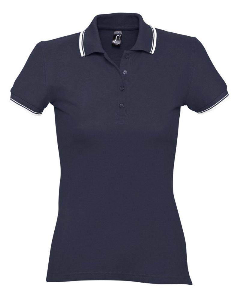 Рубашка поло женская Practice women 270, темно-синий/белый, размер XXL