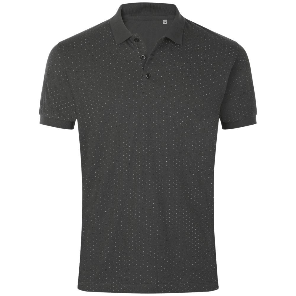 Рубашка поло мужская BRANDY MEN, темно-серая с белым, размер S фото