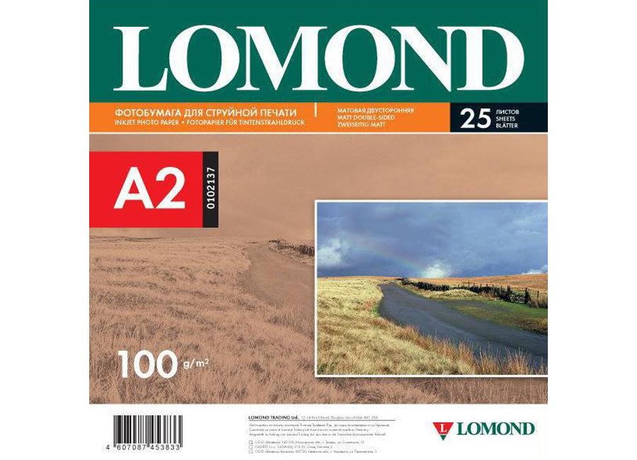 Фото - Lomond для струйной печати, A2, 100 г/м2, 25 листов, двусторонняя, матовая/матовая (0102137) lomond для струйной печати a2 100 г м2 25 листов двусторонняя матовая матовая 0102137