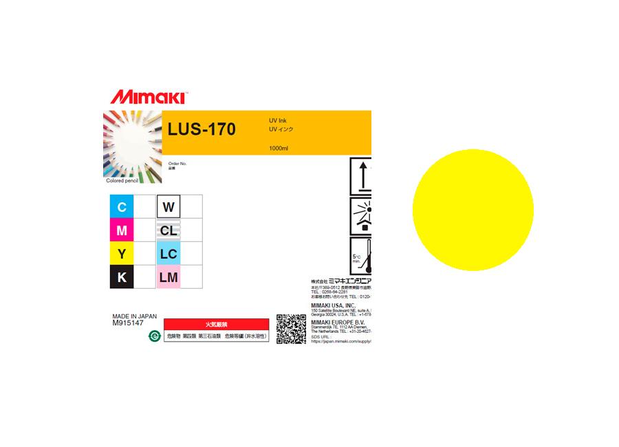 Фото - УФ чернила LUS-170UV LED Yellow, 1000 мл чернила mimaki lf 140 spc 0728y yellow