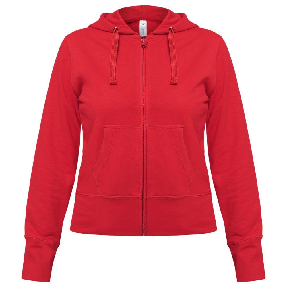 Толстовка женская Hooded Full Zip красная, размер M женская толстовка хлопок queen m