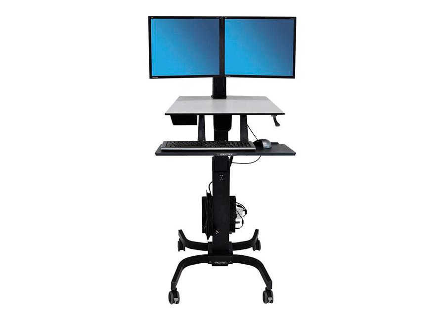 Мобильное рабочее место для двух мониторов Ergotron WorkFit-C Dual Sit-Stand Workstation (24-214-085)