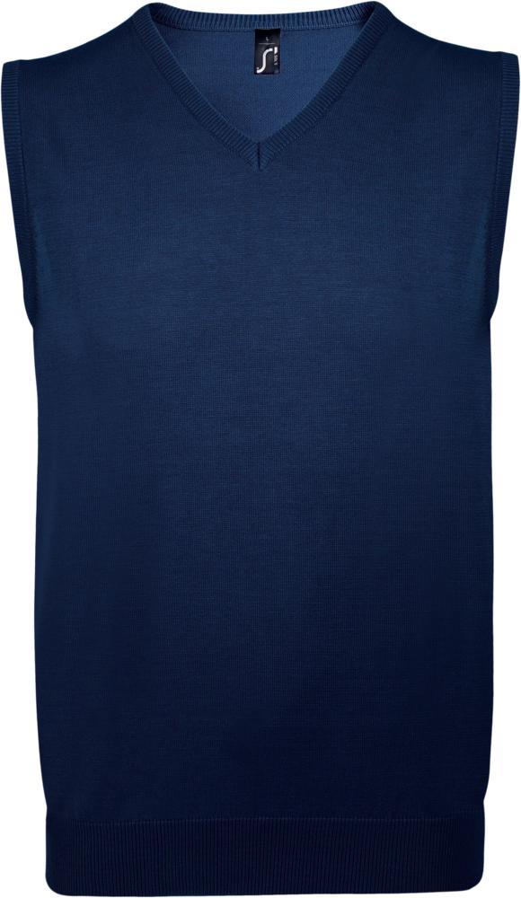 Жилет унисекс GENTLEMEN темно-синий, размер 3XL