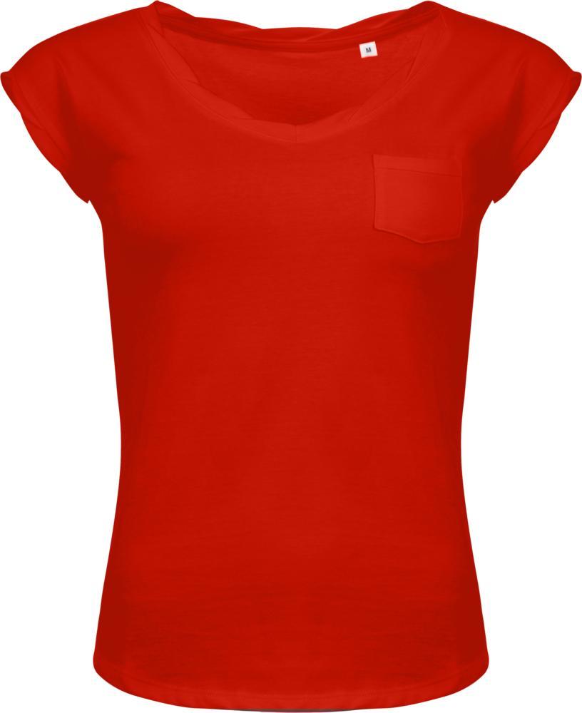 Футболка женская MOD WOMEN 150 оранжево-красная, размер L