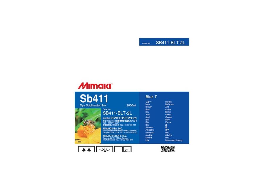 Фото - SB411 DYE Sublimation ink Blue 2L (SB411-BLT-2L) sb420 dye sublimation ink blue 2l