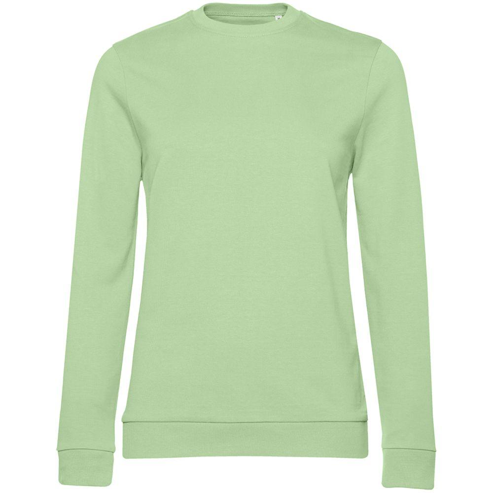 джемпер женский oodji collection цвет светло розовый светло серый 24801010 9 45284 4020f размер xxl 52 Свитшот женский Set In, светло-зеленый, размер XXL