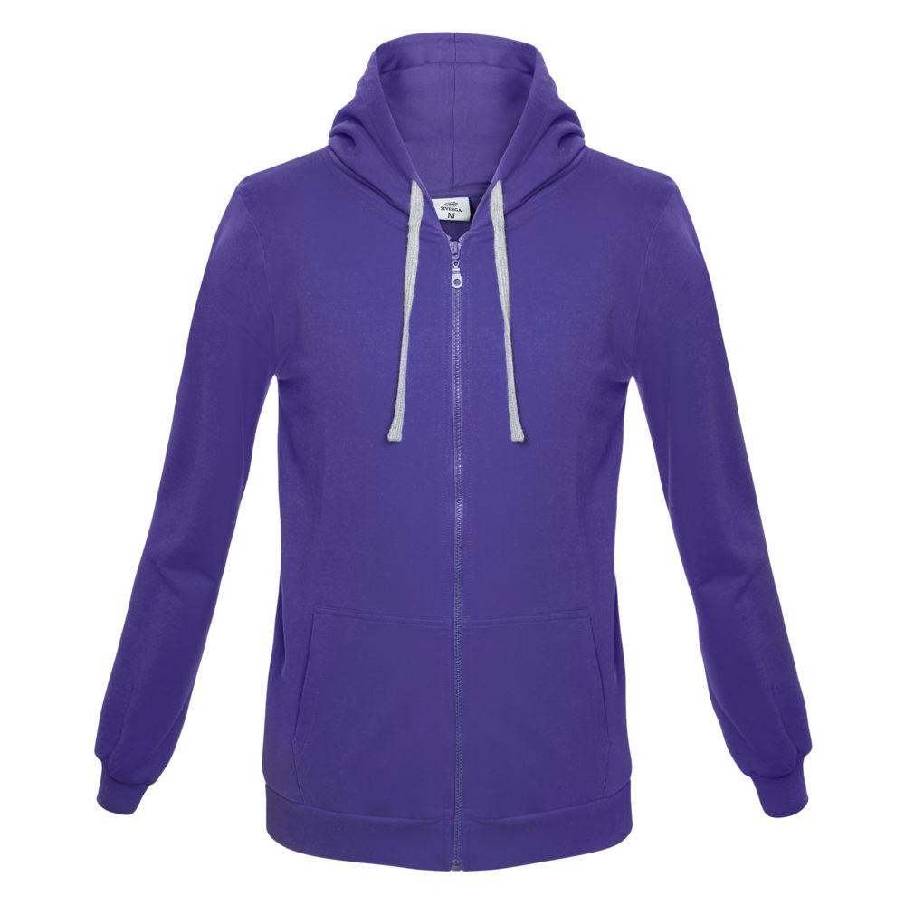 Толстовка с капюшоном на молнии Unit Siverga фиолетовая, размер XXL толстовка с капюшоном snake ii темно фиолетовая размер xs