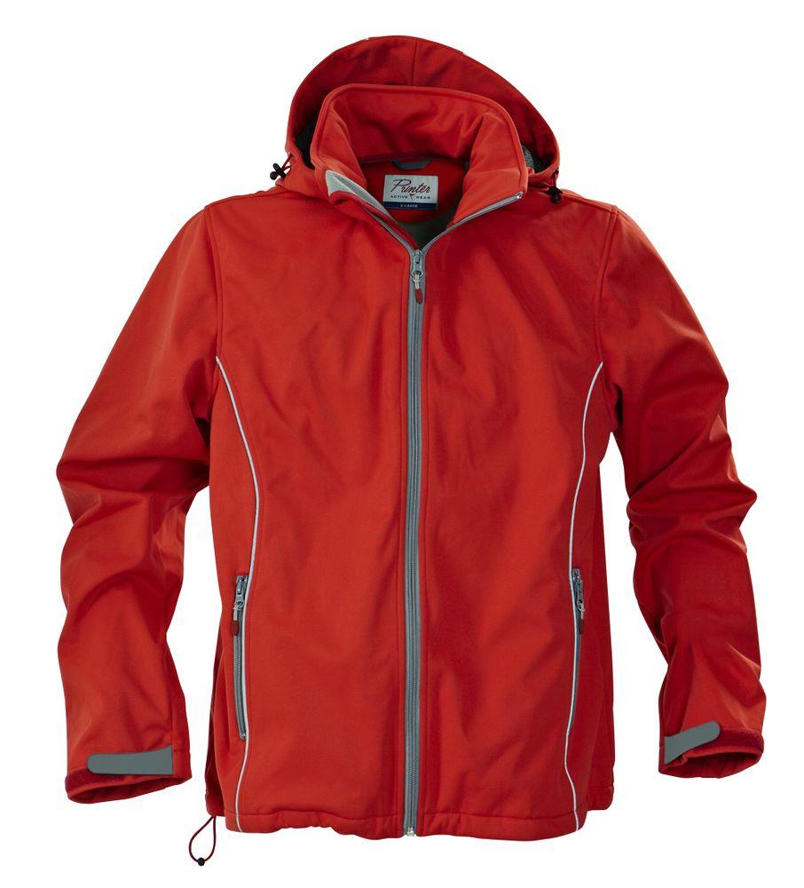 Куртка софтшелл мужская SKYRUNNING, красная, размер XL