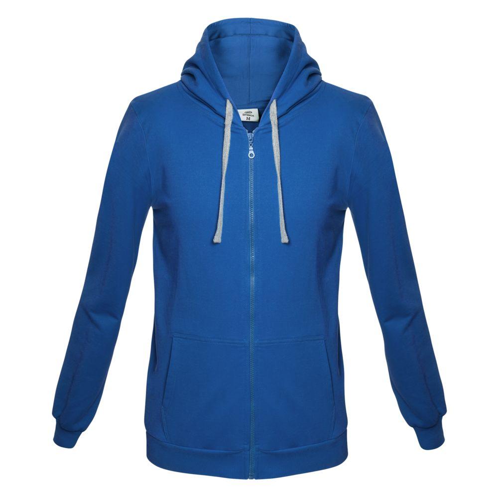 Толстовка с капюшоном на молнии Unit Siverga ярко-синяя, размер 3XL толстовка stan ярко синяя размер 3xl