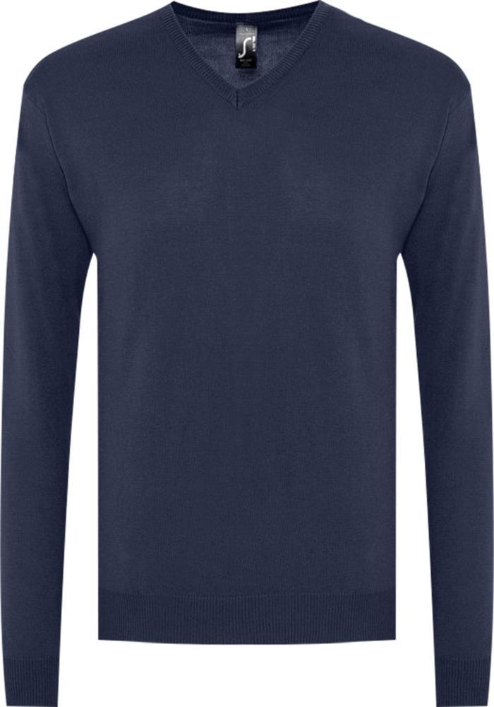 домашний комплект мужской vienetta s secret первый брюки кофта цвет темно синий 703003 0000 размер m 46 Свитер мужской GALAXY MEN темно-синий, размер M