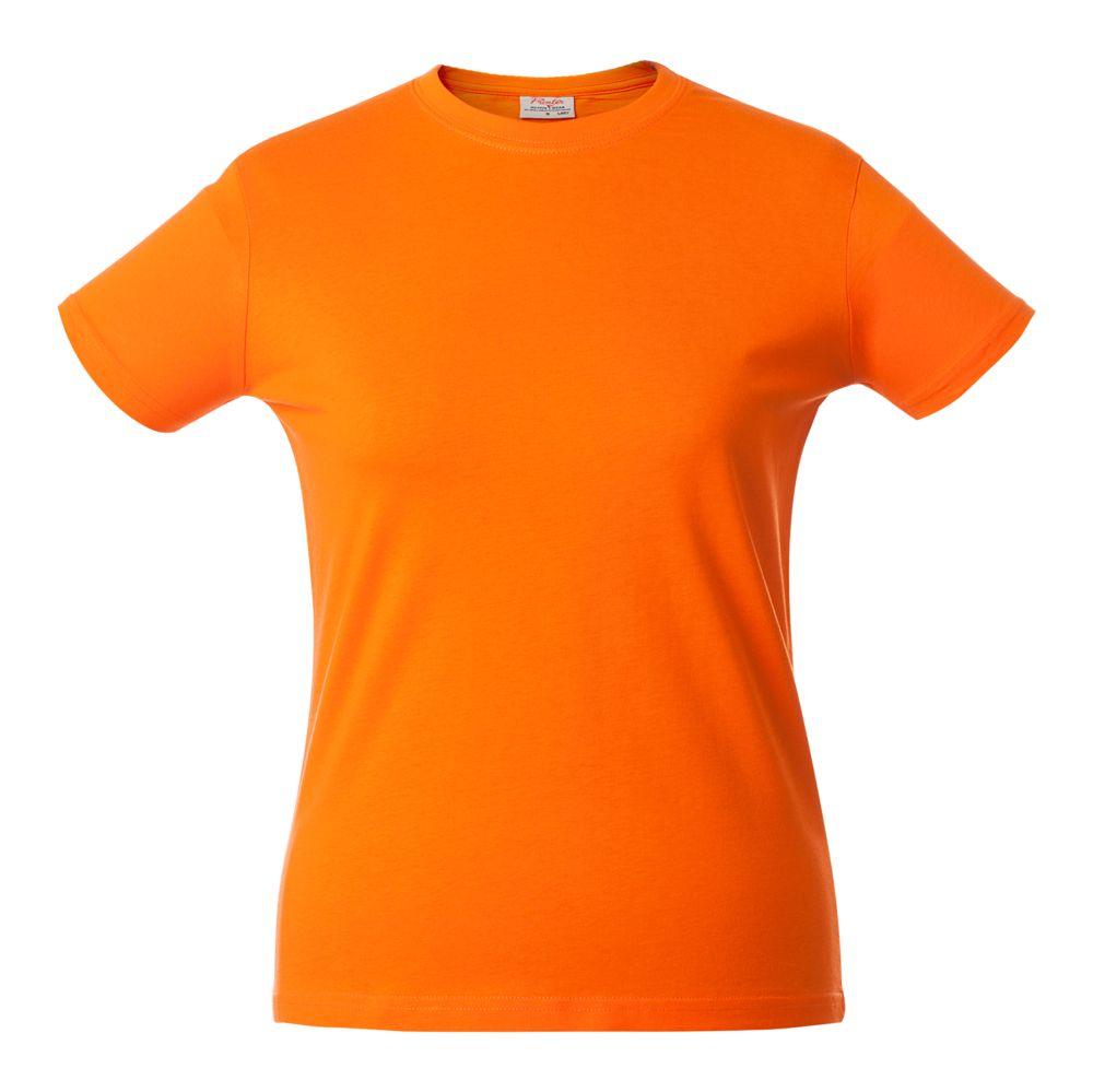 Футболка женская HEAVY LADY оранжевая, размер XXL lady xxl