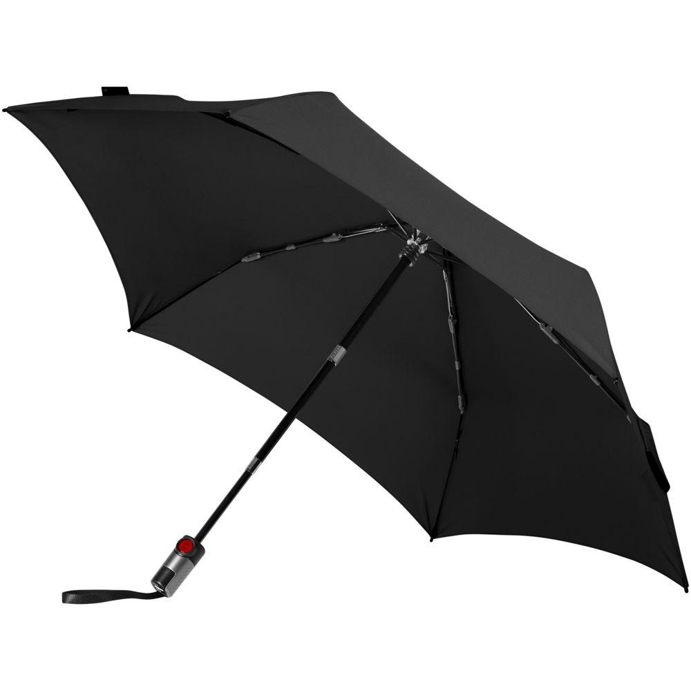 Зонт складной TS220 с безопасным механизмом, черный зонт складной zemsa zemsa mp002xw13drd
