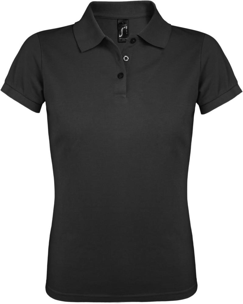 Рубашка поло женская PRIME WOMEN 200 темно-серая, размер L фото