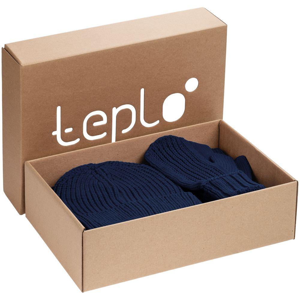 Набор Nordkyn Full Set с шарфом, синий, размер M
