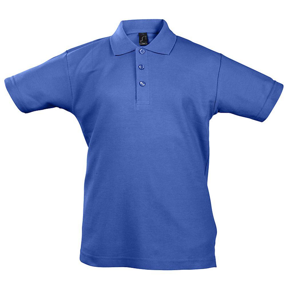 Рубашка поло детская Summer II Kids, ярко-синяя, на рост 106-116 см