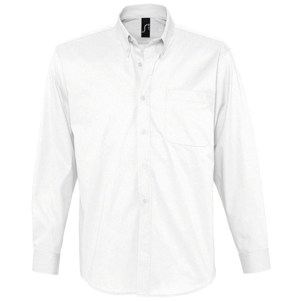 Рубашка мужская с длинным рукавом BEL AIR белая, размер XXXL