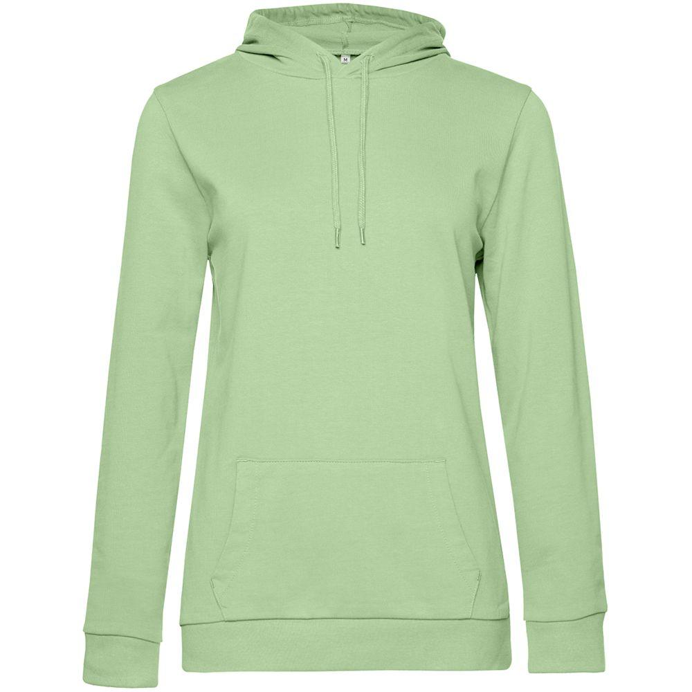 Толстовка с капюшоном женская Hoodie, светло-зеленая, размер M