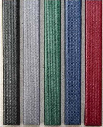 Цветные каналы с покрытием «ткань» O.CHANNEL А5 217 мм 20 мм, серые фото