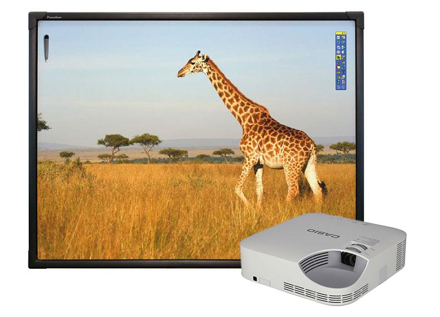 Фото - Интерактивная доска Promethean ActivBoard Touch 78 10 касаний, ПО ActivInspire в комплекте с проектором Casio XJ-V2 и потолочным креплением 380-650 мм casio ae 1300wh 1a2