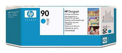 Печатающая головка + чистящая станция HP Print Head & Cleaning Cyan (C5055A) печатающая головка colorwave300 cyan 5835b002